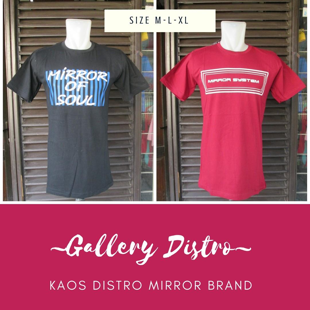 Grosir Kaos Distro Parahyangan Bandung Distributor Kaos Distro Mirror Brand Dewasa Murah 34Ribuan