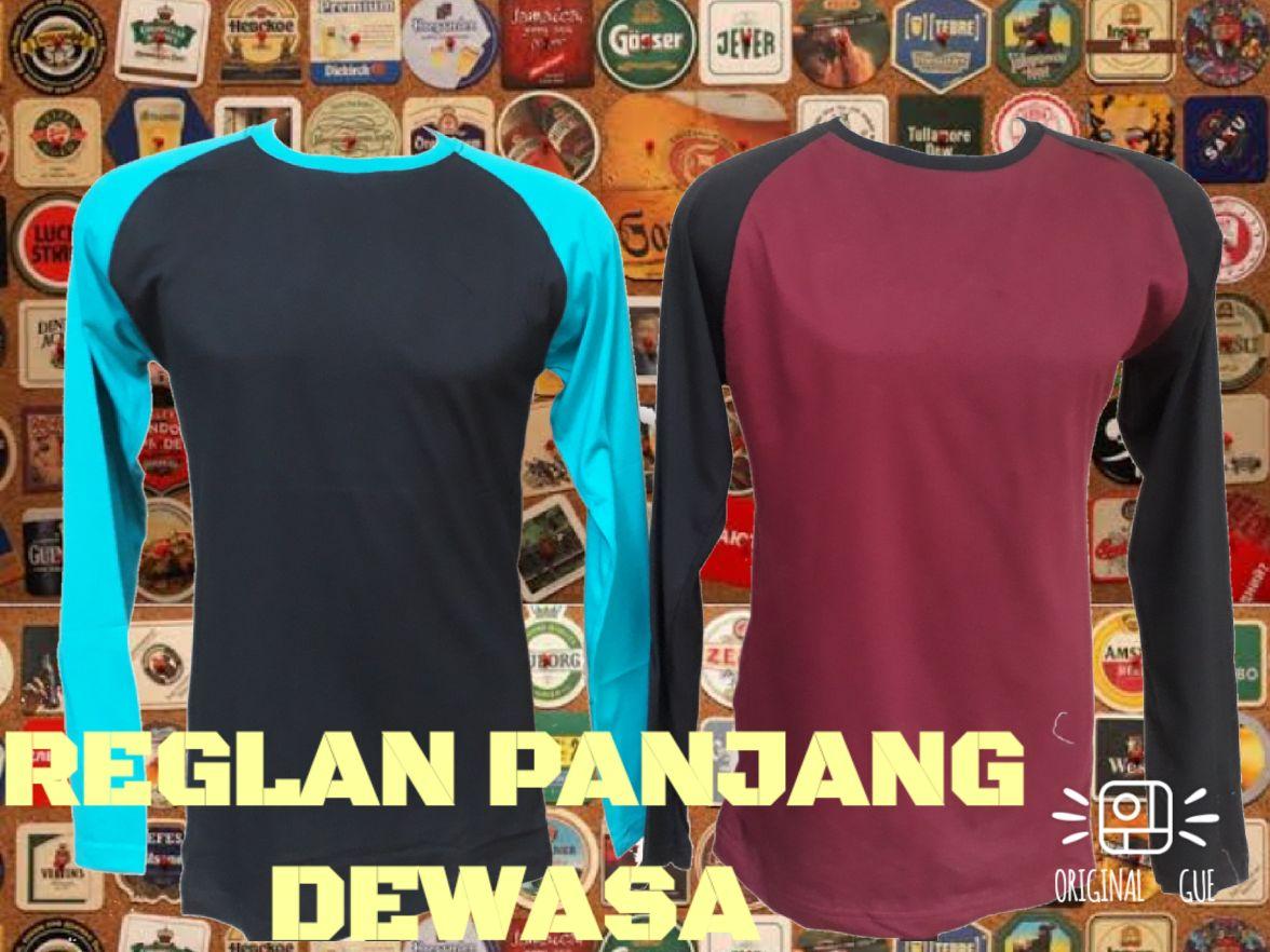 Grosir Kaos Distro Parahyangan Bandung Supplier Kaos Raglan Panjang Dewasa Murah Bandung 32Ribu