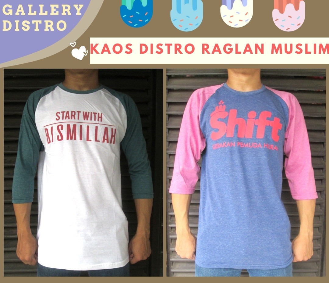 Grosir Kaos Distro Parahyangan Bandung Distributor Kaos Distro Hadjie Raglan Muslim Dewasa Termurah di Bandung 30Ribuan