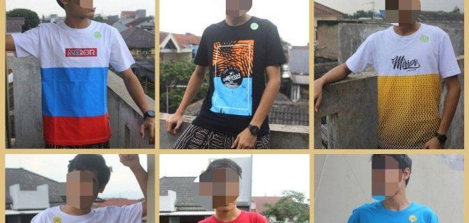 Grosir Kaos Distro Parahyangan Bandung Distributor Kaos Distro Surfing Mirror Brand Original Murah di Bandung 36Ribuan